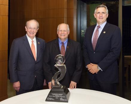 Dr. Martin J. Murphy, Dr. James S. Marks, Executive Vice President, Robert Wood Johnson Foundation, and Robert A. Bradway